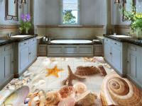 Дизайн 3д полов в ванной — Лучшие варианты современного интерьера! (100 фото)