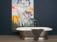 Фотоплитка для ванной комнаты — Лучшие идеи красивой отделки стен +90 фото
