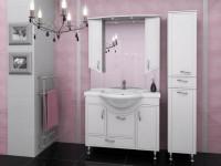 Мойдодыр с зеркалом для ванной комнаты — Удобное обустройство на 78 фото