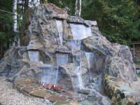 Водопад на даче своими руками — Красивый способ современного украшения! (93 фото)