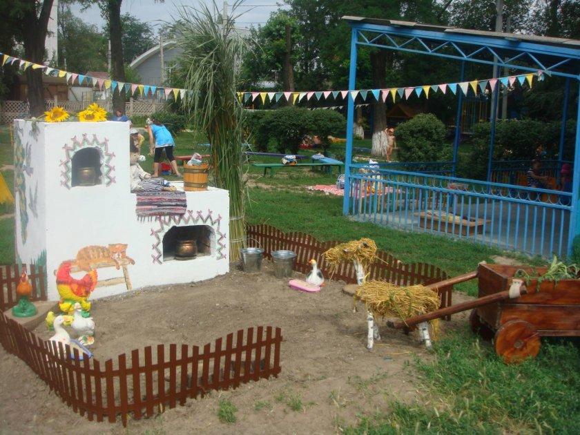 Идеи для оформления детских площадок своими руками