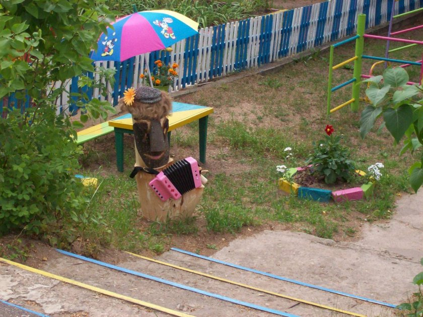 Оформление детской площадки в саду своими руками фото и идеи