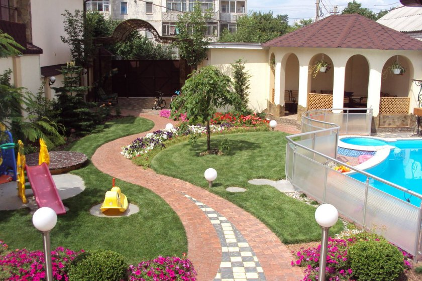 Детская площадка с бассейном своими руками 64