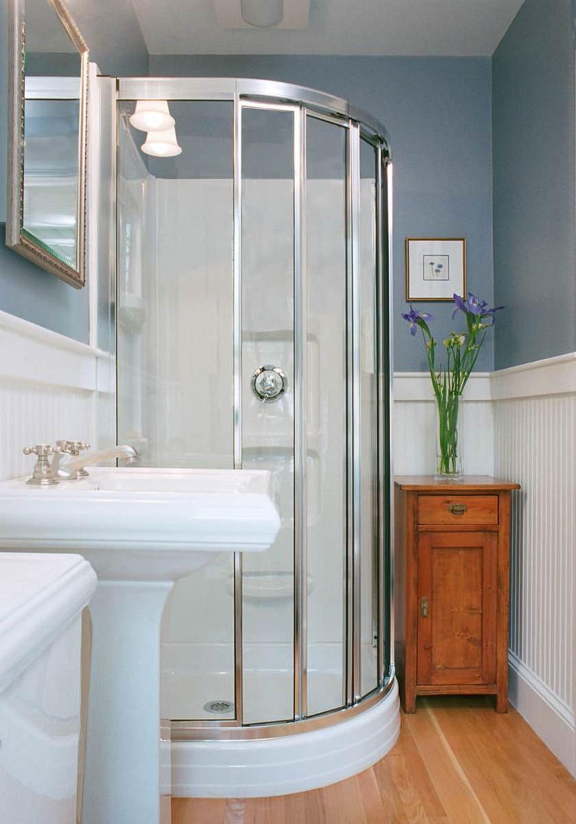 Варианты дизайна маленькой ванной комнаты с душевой кабиной