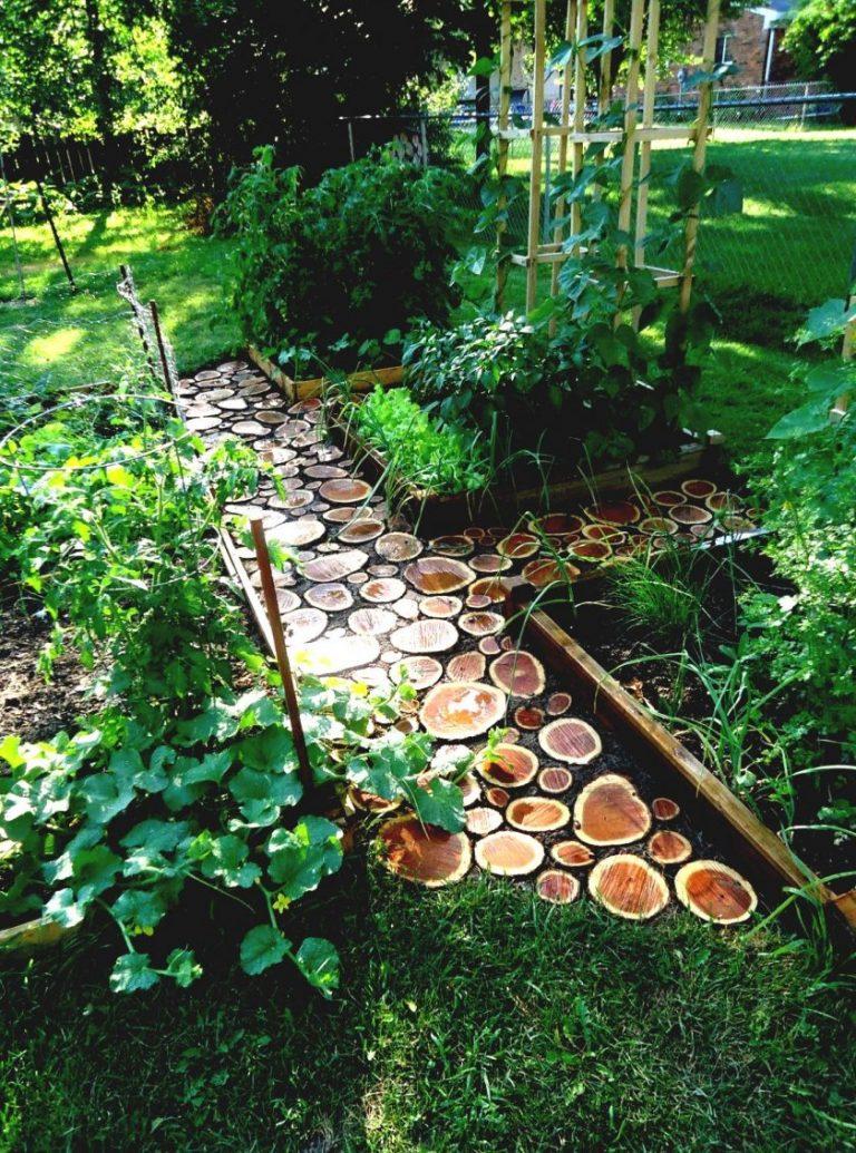 Дорожки на даче в саду своими руками фото - несколько 90
