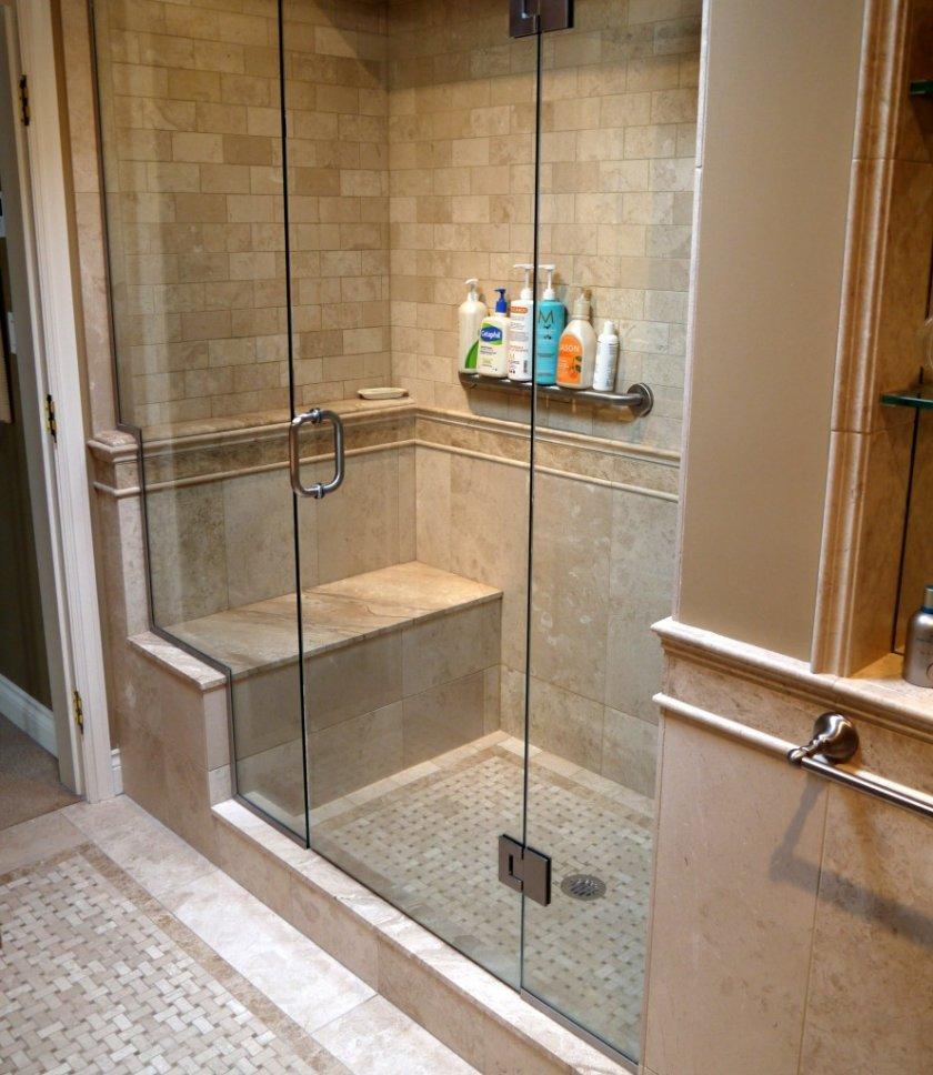 Душевая кабина своими руками из плитки с ванной