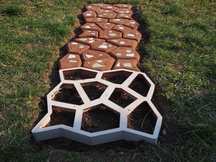 Цемент для садовой дорожки своими руками 64