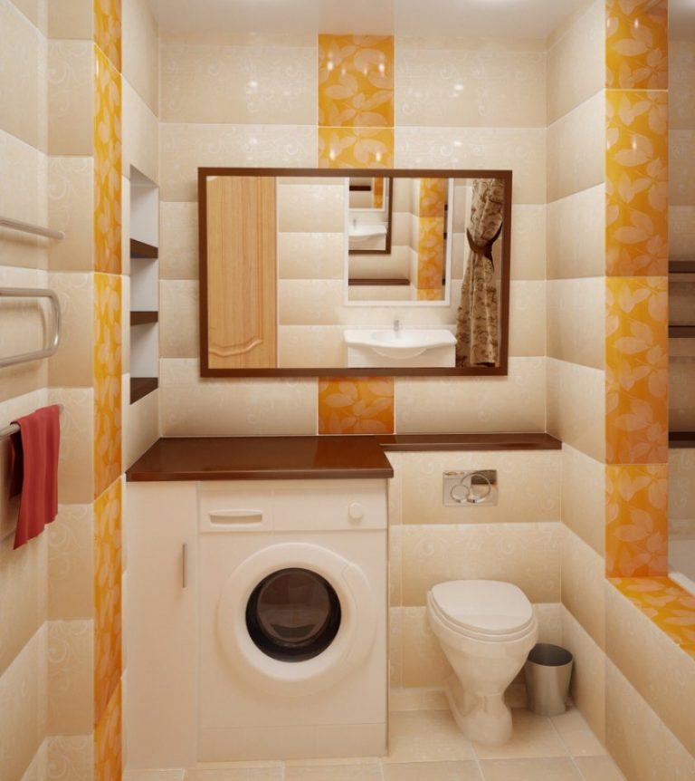 Дизайн ванной комнаты совмещенной с унитазом