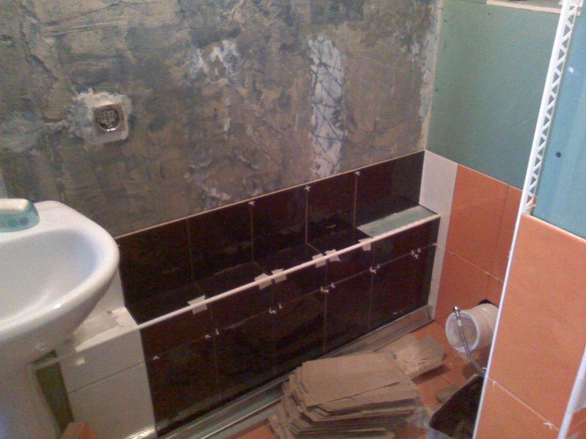 Укладка плитки в ванной:этапы, советы, фото идеи 15