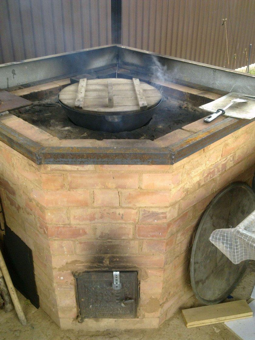 Как сделать печь казана