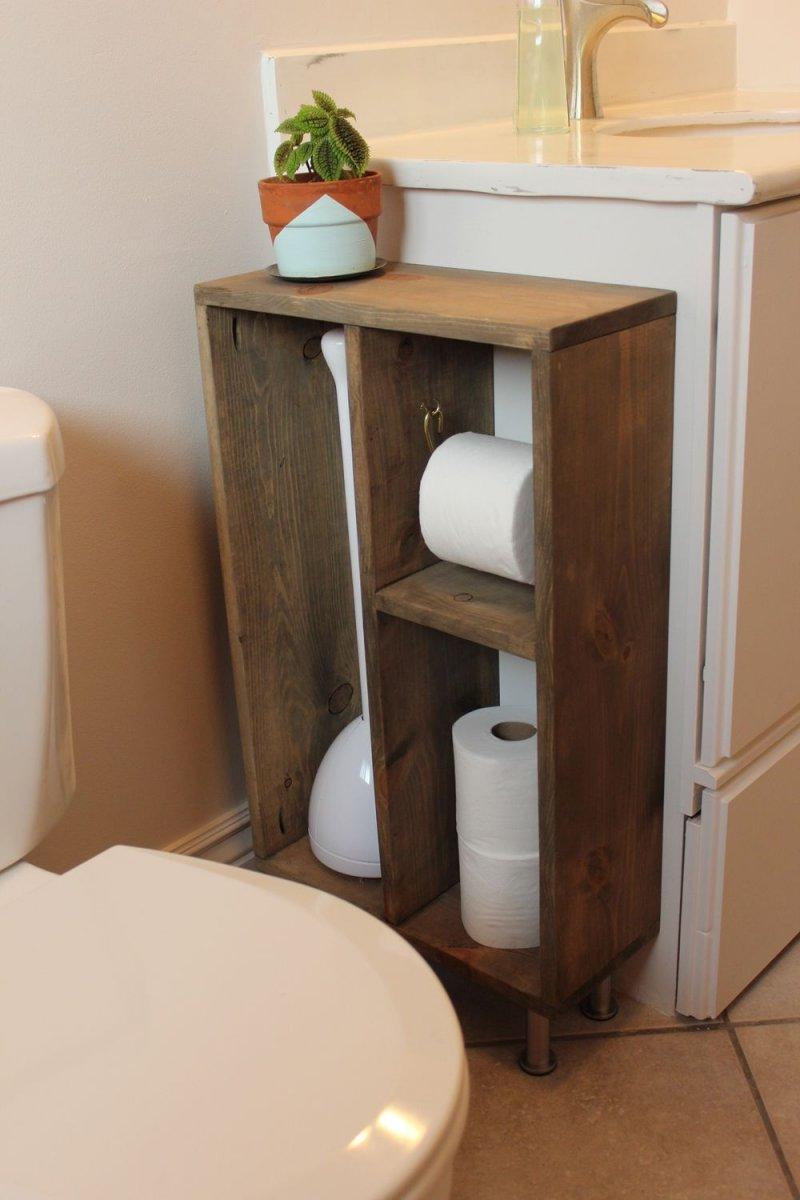 Туалетные полочки своими руками 6