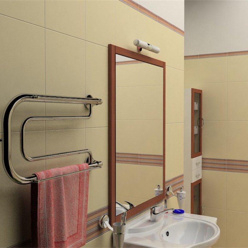 Размещение полотенцесушителя в ванной