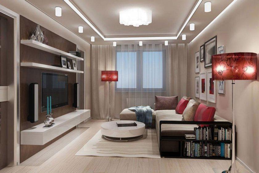 Интерьер зала в квартире фото 17 кв.м прямоугольная с камином