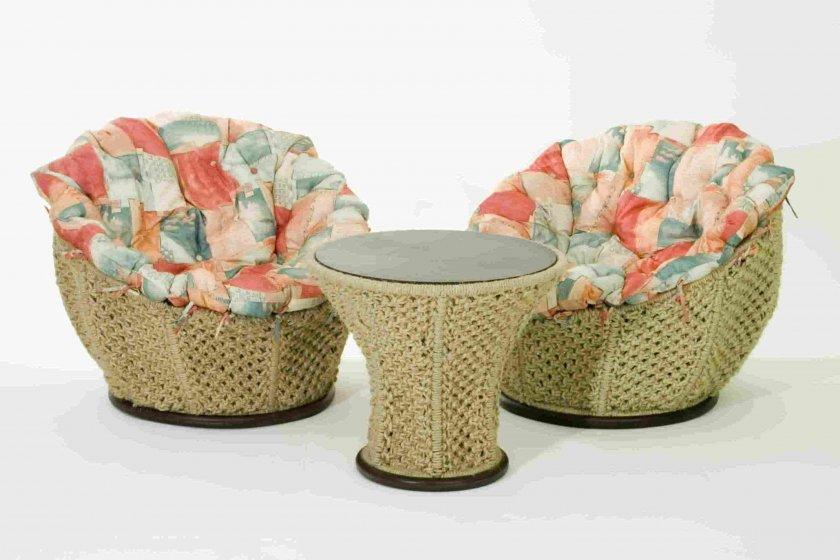 Плетеная мебель из чего своими руками