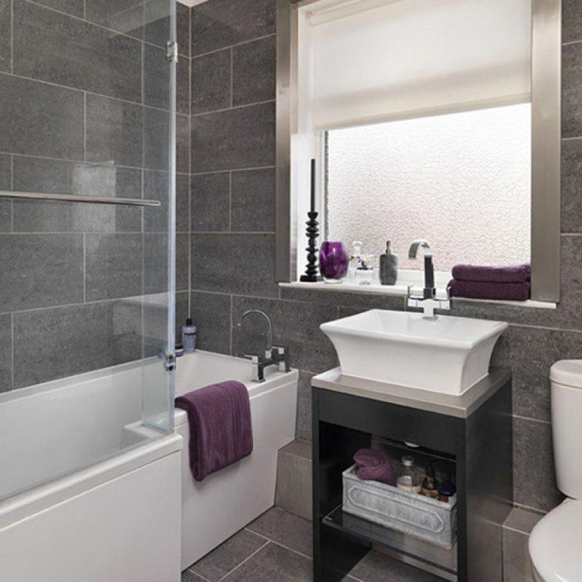 Дизайн ванной в сером цвете