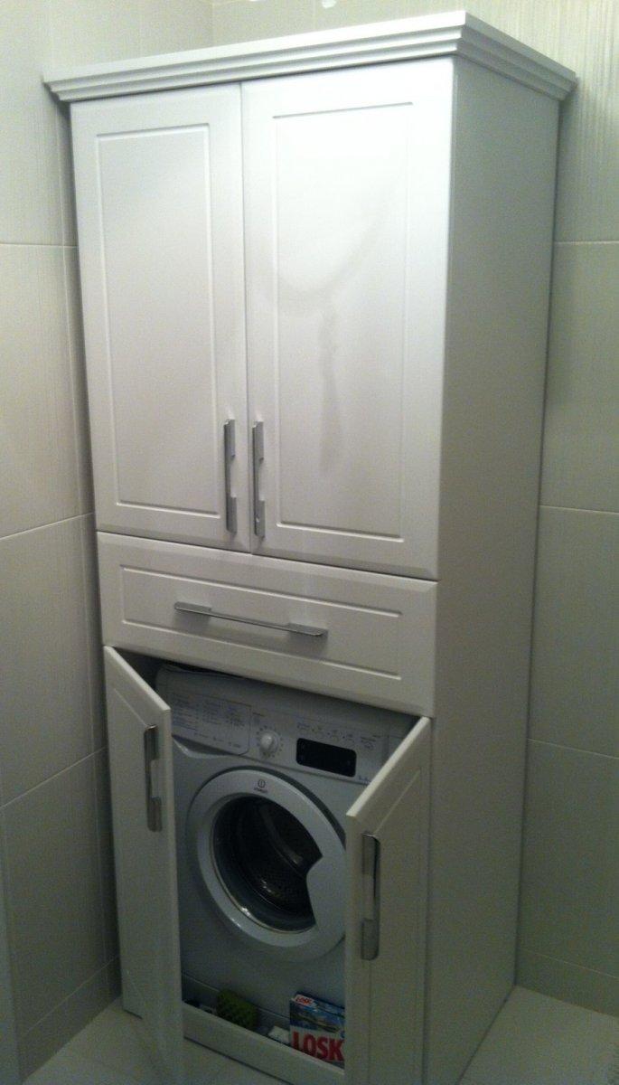 Шкаф для стиральной машины в ванной икеа