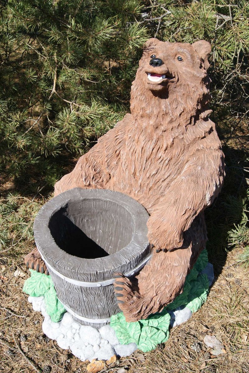Медведь из дерева своими руками для сада