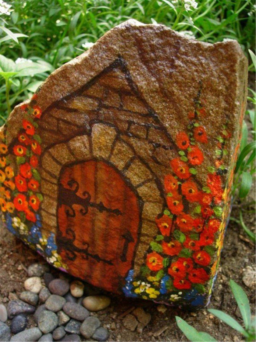 Поделки из камней своими руками фото для дачи и сада 24