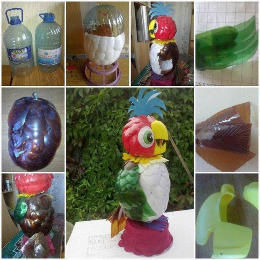 Поделки по экологии из пластиковых бутылок