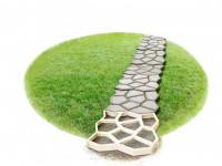 Форма для заливки садовых дорожек — оригинальное зонирование участка дорожками (119 фото)