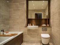 Бежевая ванная комната: варианты цветовых сочетаний и примеры ванной в бежевых тонах