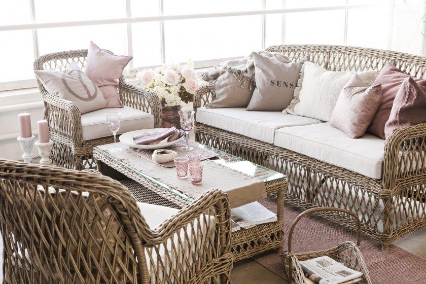 Мебель из ротанга плетеные кружева в дизайне интерьера