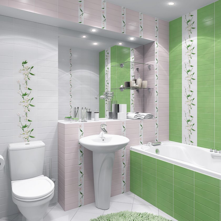 Дизайн ванной комнаты без кафельной плитки