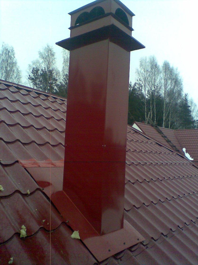 как сделать дымоход на крыше из профнастила