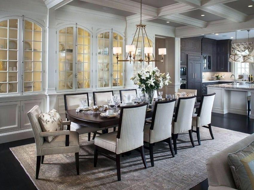 кухня гостиная в классическом стиле